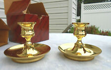 """2 Baldwin Classics Saucer Base 3"""" Candlesticks - No. 7230"""