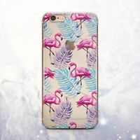 Cute Flamingo Floral Silicone iPhone 12 11 XR Case Cover iPhone 6 7 Plus X XS SE