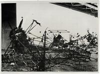 Zerstörte polnische Flugzeuge. Orig-Pressephoto, von 1939