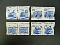USA 1993 & 1995 Lot of 4 Transportation Issue Coil Pairs Used - See Description