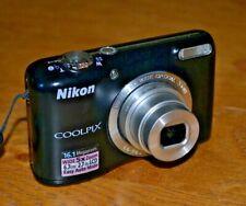 Black Nikon Coolpix L27 16.1 Mega Pixel Digital Camera