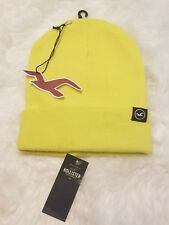 New HOLLISTER Knit Icon Beanie NWT Bright Yellow ▪FREE Shipping!