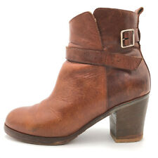 MM6 Maison Martin Margiela Brown Leather Zip Ankle Boots Women's US 10 / 40