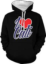 I Heart Cali Love Life California Republic West Coast 2-tone Hoodie Pullover