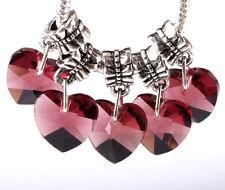 Exquisite 5pc Silver CZ big hole Beads Fit European Charm Pendant Bracelet AA244
