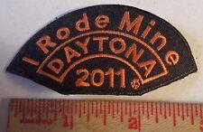 """I RODE MINE"" Daytona Bike Week 2011 patch motorcycle rally biker collectible"