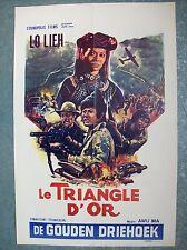 affiche cinéma originale triangle d'or vers 1970 Awu Ma Lo Lieh