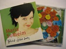 "MARIA SOLHEIM ""BEHIND CLOSED DOORS"" - CD"