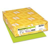 NEENAH PAPER Exact Brights Paper 8 1/2 x 11 Bright Green 50lb 500 Sheets 26791