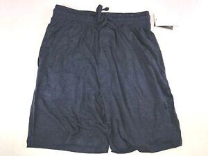 Hanes Men's Tag Free Pajama Lounge Shorts w Side Pockets, Navy, Small