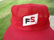 Vintage FS Farmers Service Patch Snap Back Mesh Hat K-Brand