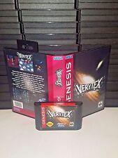 Verytex Game for Sega Genesis! Cart & Box!
