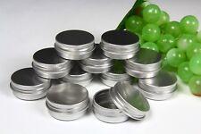 ROUND SURVIVAL KIT TIN Small Empty Pot Plain Metal Storage Bit Box Mini Lip Balm