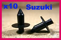 For Suzuki 10 motorcycle motor bike fairing panel trim rivet fastener clips
