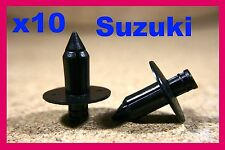 10 SUZUKI Motorcycle motor bike Fairing panels Trim Rivet Clips 7mm
