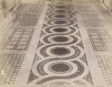 ALBUMEN PRINT MOUNTED TO LINEN, CLOSE UP OF AN INTERIOR STONE DETAILED FLOOR.