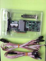 LSI Megaraid SAS 9260-8i RAID controller+SFF-8087 to (4) 7-Pin SATA cables