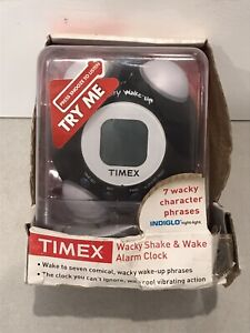 TIMEX Wacky Shake and Wake ALARM CLOCK Black BRAND NEW T156BN
