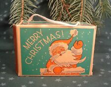 1910 Merry Christmas Holiday Santa Claus Empty Display Candy Box