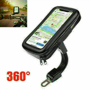 360° Rotate Waterproof Touch Screen Scooter Motorcycle GPS Bracket Phone Holder