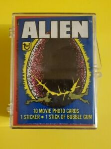 1979 TOPPS ALIEN - COMPLETE TRADING CARD SET WITH 84 CARDS & 22 STICKERS - MINT