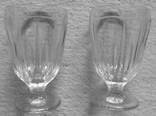 2 Alte Groggläser Preßglas