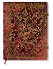 Paperblanks Lined Writing Journal Gold Foiled Carmine Red Brown Ultra Size 7x9