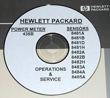 HP 435B +10 848X Power Sensor manuals (8481A + 9 MORE)
