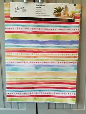 FIESTA PLACEMATS SET OF 4 FOR INDOOR/OUTDOOR USE JUST IN TIME FOR SUMMER COOKOUT
