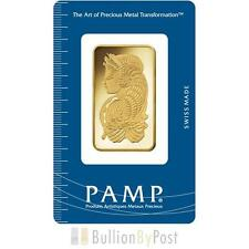PAMP 1oz Gold Bar Minted