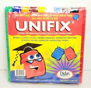 Unifix Cubes Didax Vinyl Snap Storage Bag Math Manipulatives Home School