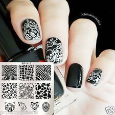 Square Manicure Nail Art Stamping Template Image Plate Animal BP-X13 Born Pretty