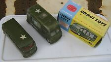 CORGI 356 359  ARMY VEHICLES  KITCHEN & VW ORIGINALS PLAYWORN IN GOOD REPRO BOX