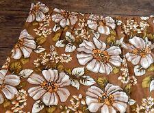 Vintage Retro Pair Mid Century Flower Power Floral Curtains 60s 70s Camper Van