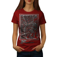 Wellcoda Holland Amsterdam Womens T-shirt, Netherlands Casual Design Printed Tee