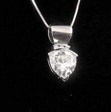 STERLING SILVER RHODIUM PLATED 11MM TRILLION PENDANT WITH EXTRA WIDE BAIL