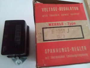 Ferrari 330 GT 275 GTB GTS NOS VOLTAGE REGULATOR WEHRLE E 1051 J TRANSISTOR TYPE