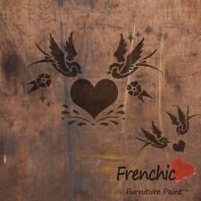 Plantilla Tatuaje Golondrinas en el amor Pájaro frenchic pintura de tiza A4 Muebles Calcomanía Arte