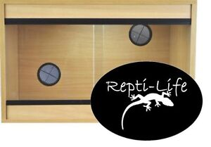 Repti-Life Vivarium 24x15x15 in Oak, 2ft vivarium