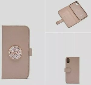 """MIMCO """"FLIP CASE FOR IPHONE X/XS - Bliss Balsa"""" - RRP $99.95 new 💚💖💙"""