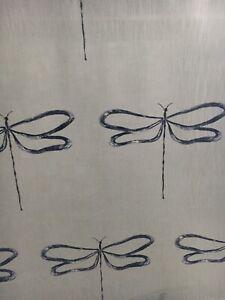 SCION/HARLEQUIN CURTAIN FABRIC DESIGN Dragonfly 3.65METRES MARINE COTTON BLEND