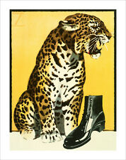Hohlwein - Leopard with Shoe - fine art print vintage poster - various sizes