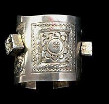 Artisan Silver ( Northern Africa ) Rare! Large Ethnic Cuff Bracelet - Berber