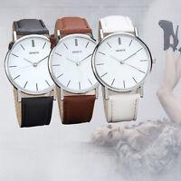 Retro Women Geneva Watch Leather Analog Quartz Wristwatch Casual Dress Watches