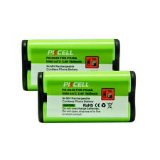 2PCS Cordless Home Phone Replacement Battery for Panasonic HHR-P546A PKCELL