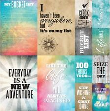 Scrapbooking Crafts 12X12 Stickers Bucket List Life Memories Check One Off To Do