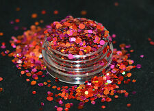 Exclusive Bizzy Nails Cosmetic Grade Glitter Nail Art Nectarine For Acrylic/Gel