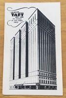 The Famous HOTEL TAFT 7th Avenue New York NY vintage unused chrome postcard