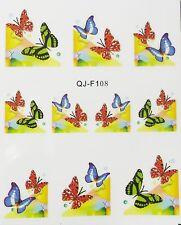 Accessoire ongles : nail art - Stickers décalcomanie, motifs double papillons