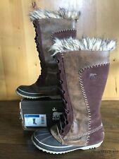RARE Sorel CATE THE GREAT 7 FUR SNOW  Boots Waterproof Fur RARE WINTER IN BOX